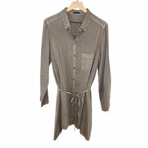 OSKA Button Down Shirt Dress Size 2
